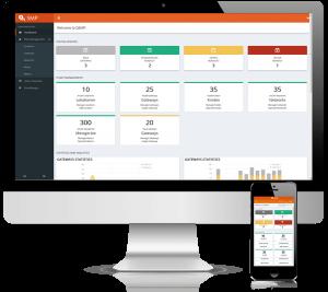 Webportal der QUNDIS Smart Metering Plattform